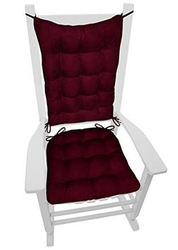 Barnett Products Rocking Chair Cushions - Microsuede Wine Re