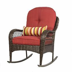 Rocking Chair Cushions For Adults Set Brown Wicker Deck Furn