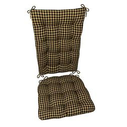 Barnett Products Rocking Chair Cushion Set - Checkers Black