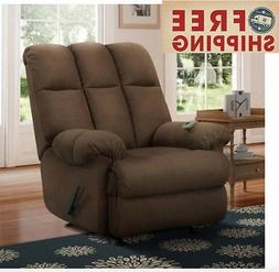 Rocker Recliner Rocking Chair Dual Massaging Zone Pad Nurser