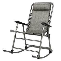 Rocking Chair Leisure Chair for Living Room Gray