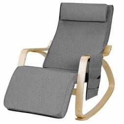Rocking Chair Realx Lounge Chair Rocker Adjustable Footrest