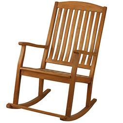 Bare Decor Large Rocking Chair in Teak Wood, Indoor or Outdo