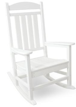Rocking Chair White Patio Presidential Rocker Outdoor Weathe