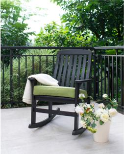 Rocking Chair with Cushion Wooden Lounge Outdoor Indoor Porc