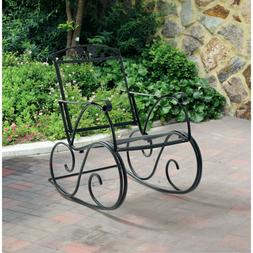 Rocking Chair Wrought Iron Patio Front Porch Rocker Extra Wi