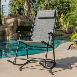 Rocking Zero Gravity Chair Patio Lounge Recliner Folding Yar