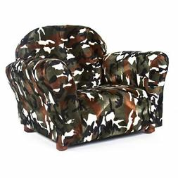 Keet Roundy Faux Fur Children's Chair, Camo