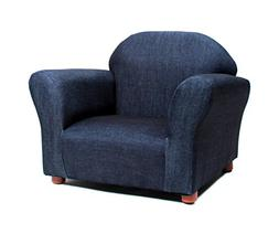 KEET Roundy Kid's Chair Denim Blue Childrens Upholstered Arm