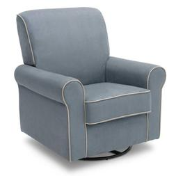 Delta Children Rowen Glider Swivel Rocker Chair, Frozen Blue