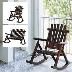 Rustic Outdoor Patio Adirondack Rocking Chair Patio Furnitur
