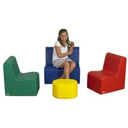 School Age Social Center 4 Piece Kids Seating Group Set