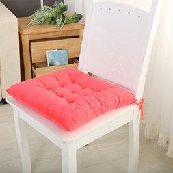 Set Of 4 Seat Chair Pads And Cushions With Ties On Down Back