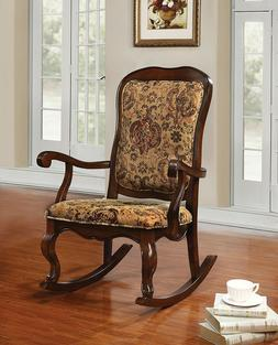Sharan French Provencial Style Accent Wood Rocking Chair Flo