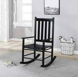 Coaster Home Furnishings Slat Back Wooden Black Rocking Chai
