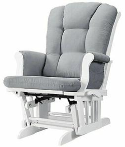 Angel Line Sleigh Reclining Glider, Multi-Position, White wi