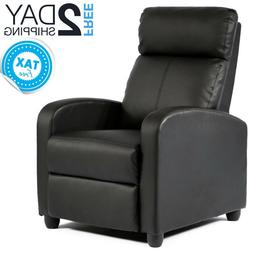 Small Recliner Chair Small Space Black Leather Reclining Tv