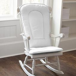 Carousel Designs Solid White Rocking Chair Pad