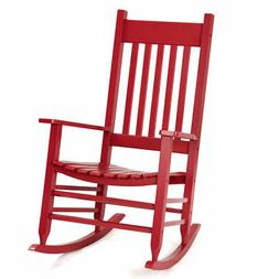 Solid Wood Rocking Chair Porch Rocker Indoor Outdoor Deck Pa