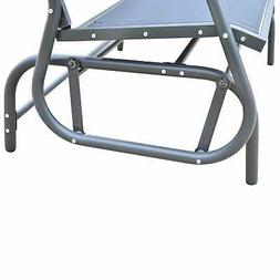 Outsunny Steel Sling Fabric Outdoor Double Glider Rocking Bl