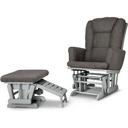 Graco Sterling Semi-Upholstered Glider and Nursing Ottoman -