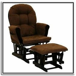 Stork Craft Hoop Glider and Ottoman Set, Espresso/Chocolate,