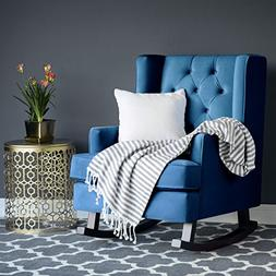 Best Choice Products Tufted Luxury Velvet Wingback Rocking A