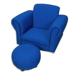 Gift Mark Upholstered Rocking Chair and Ottoman, Blue