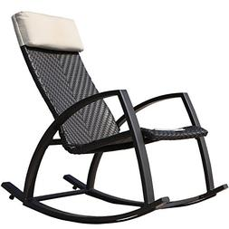 Grand Patio Weather Resistant Wicker Rocking Chair with Brea