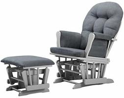 Angel Line Windsor Glider and Ottoman Gray Dark Gray Cushion