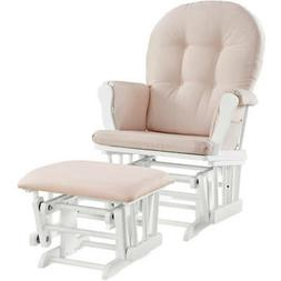 Angel Line Windsor Glider And Ottoman White Finish And Pink