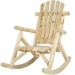 Best Choice Products Wood Log Rocking Chair Single Rocker Na