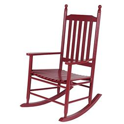 Giantex Wood Outdoor Rocking Chair, Wooden Rocking Chairs fo
