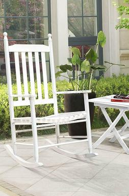 Sunjoy S-DNC1008PWD Safavieh Shasta White Wood Rocking Chair