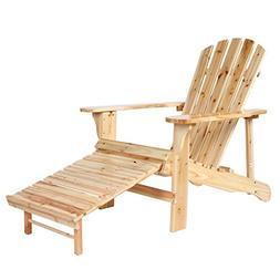 Wooden Adirondack Chair Painted With Clear Lacquer With Adju