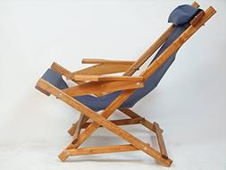 Wooden Folding Rocking Chair with All Weather Sling