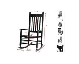 wooden rocking chair indoor outdoor solid wood