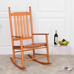 Wooden Rocking Chair Porch Rocker Armchair Balcony Deck Gard