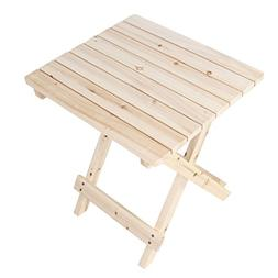 Wooden Side Table Rustic Patio Small Desk For Indoor And Out