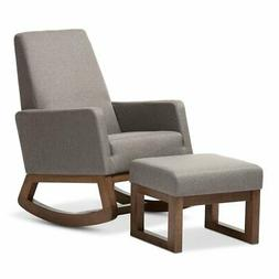 Baxton Studio Yashiya Mid-Century Retro Modern Rocking Chair
