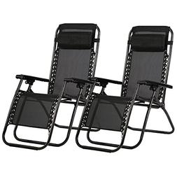 BestMassage Zero Gravity Chair Patio Lounge Recliners Adjust