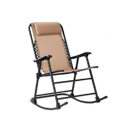 Zero Gravity Folding Rocking Chair Outdoor Patio Porch Deck
